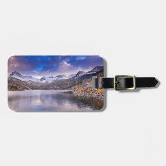 Étiquette À Bagage Sierra montagnes de Nevada, automne, CA