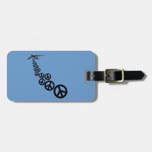 Étiquette À Bagage Signe de paix