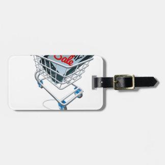 Étiquette À Bagage Signe noir de souris de chariot à téléphone de