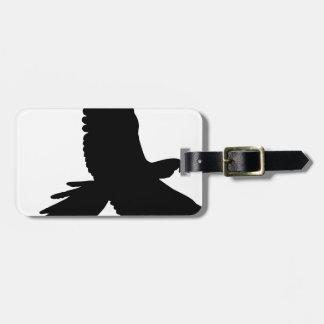 Étiquette À Bagage Silhouette de perroquet