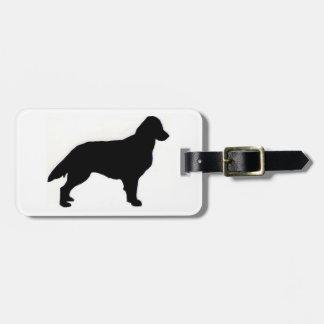 Étiquette À Bagage Silo Plat-Enduit de chien d'arrêt