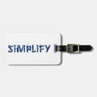 Étiquette À Bagage Simplifiez