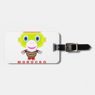 Étiquette À Bagage Singe-Morocko Amant-Mignon d'excès