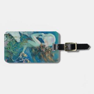 Étiquette À Bagage Sirène vintage avec l'étiquette de bagage de perle