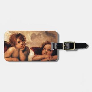 Étiquette À Bagage Sistine Madonna 2 anges par Raphael
