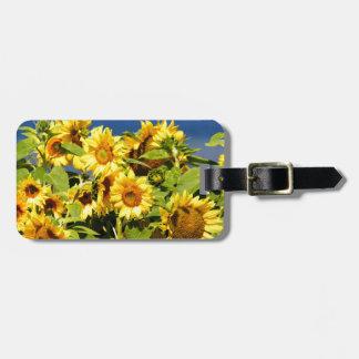 Étiquette À Bagage Sort de tournesol coloré en fleur