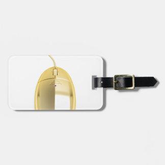 Étiquette À Bagage Souris d'or d'ordinateur