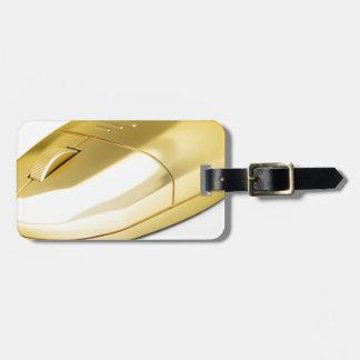 Étiquette À Bagage Souris sans fil d'or