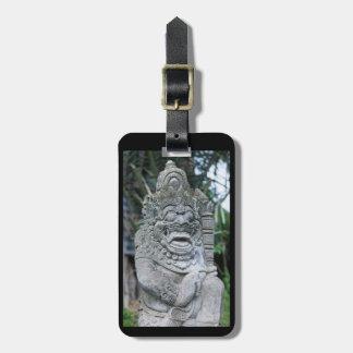 Étiquette À Bagage Statue de Dieu de Balinese
