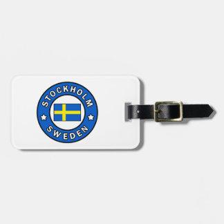 Étiquette À Bagage Stockholm Suède
