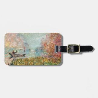 Étiquette À Bagage Studio de bateau de Claude Monet   sur la Seine