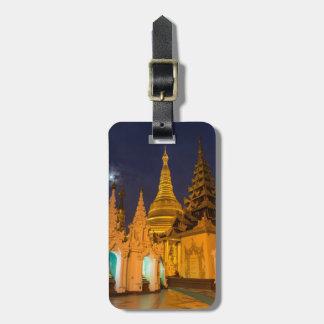 Étiquette À Bagage Stupa d'or et temples