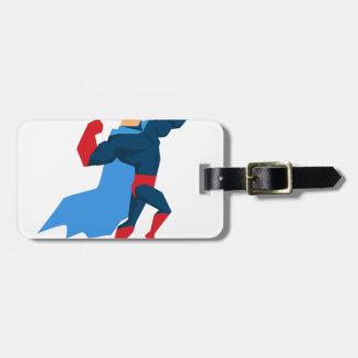 Étiquette À Bagage Super héros dans l'action