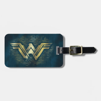 Étiquette À Bagage Symbole balayé d'or de femme de merveille