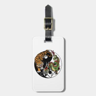 Étiquette À Bagage symbole de yang de yin de dragon et de tigre