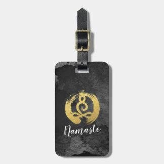 Étiquette À Bagage Symbole de zen de posture de méditation d'or