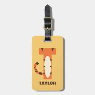 Étiquette À Bagage T est pour Tigger | ajoutent votre nom