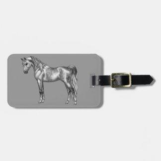 Étiquette À Bagage Tachetez le cheval Arabe égyptien gris