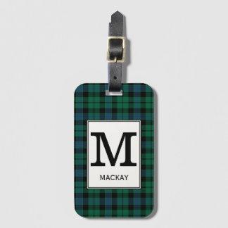 Étiquette À Bagage Tartan de MacKay de clan décoré d'un monogramme