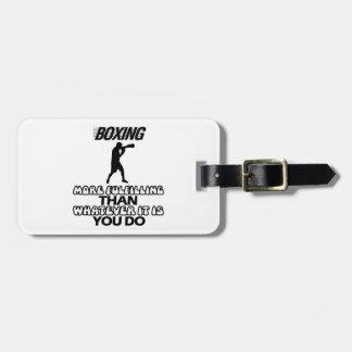 Étiquette À Bagage Tendre des CONCEPTIONS de boxe