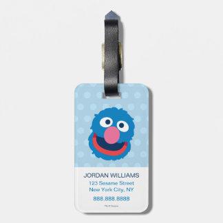 Étiquette À Bagage Tête 2 de Grover