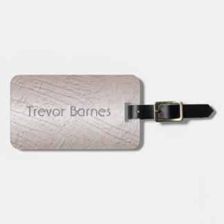 Étiquette À Bagage Texture extérieure métallique. Nom