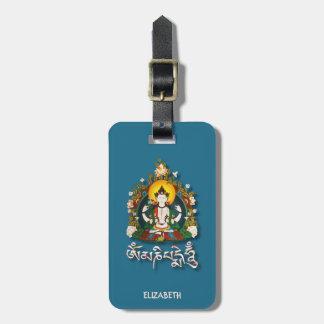 Étiquette À Bagage Tibétain de bourdonnement de Bouddha Amitabha OM