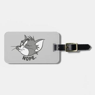 Étiquette À Bagage Tom et Jerry | Tom dit Nope
