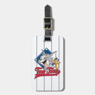 Étiquette À Bagage Tom et Jerry | Tom et Jerry sur le diamant de