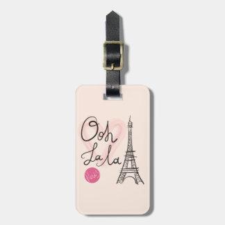 Étiquette À Bagage Tour Eiffel tiré par la main