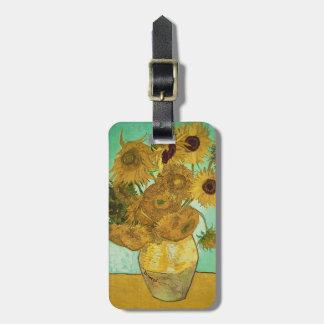 Étiquette À Bagage Tournesols de Vincent van Gogh |, 1888