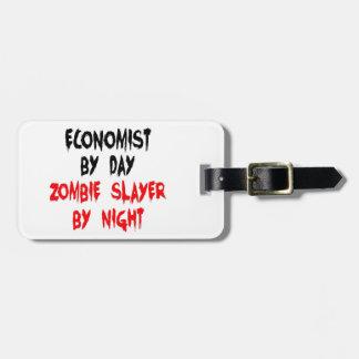 Étiquette À Bagage Tueur de zombi d'économiste