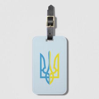 Étiquette À Bagage Ukrainien étiquette bleue/jaune de Tryzub de