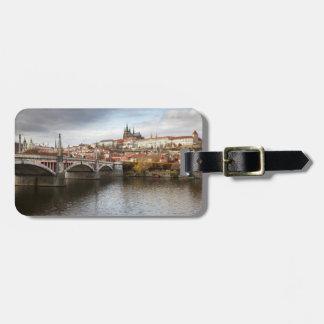 Étiquette À Bagage Un jour orageux en photo de souvenir de Prague