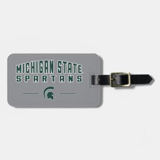 Étiquette À Bagage Université de l'Etat d'État du Michigan du fanion