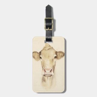 Étiquette À Bagage Vache aux animaux | de grange d'aquarelle