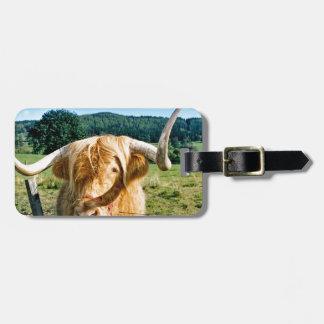Étiquette À Bagage Vache des montagnes