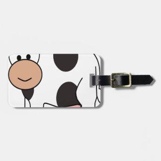 Étiquette À Bagage Vache heureuse