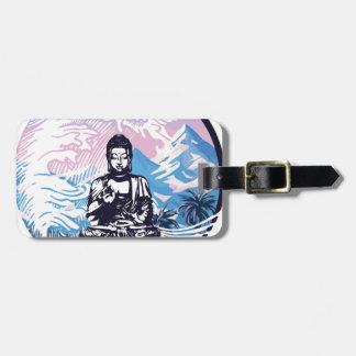 Étiquette À Bagage Vague de montagne tropicale de Bouddha