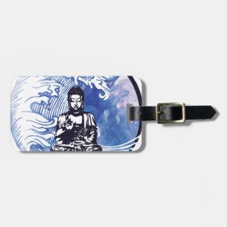 Étiquette À Bagage Vague d'eau profonde de Bouddha