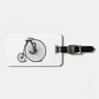 Étiquette À Bagage Vélo vintage de bicyclette de vélo sur rail de