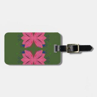Étiquette À Bagage Vert de rose d'éléments de conception