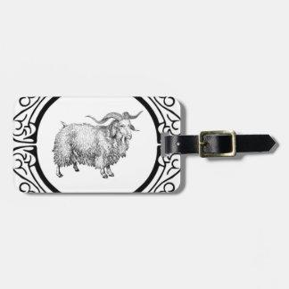 Étiquette À Bagage vieil affichage de moutons