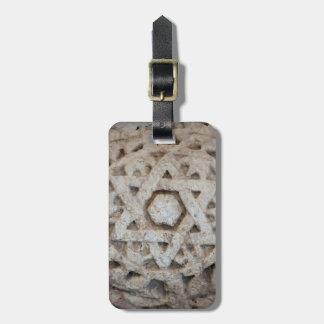 Étiquette À Bagage Vieille étoile de David découpant, Israël