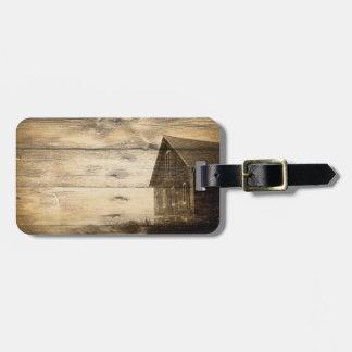 Étiquette À Bagage vieux cabine primitif de ferme de grange de pays