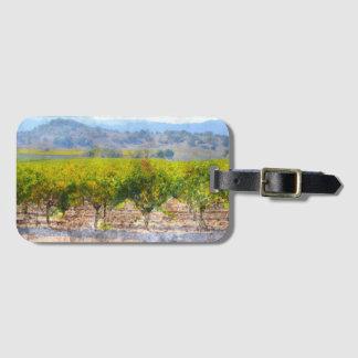 Étiquette À Bagage Vignoble dans Napa Valley