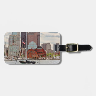 Étiquette À Bagage Ville - Boston mA - horizon de promenade de port