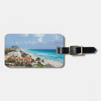Étiquette À Bagage Ville de Cancun sur près de la plage