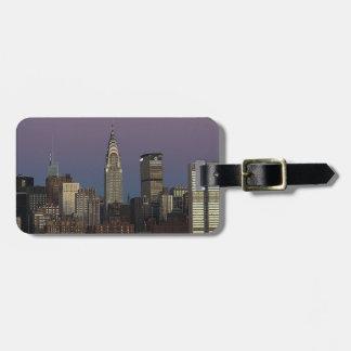 Étiquette À Bagage Ville Manhattan New York d'horizon