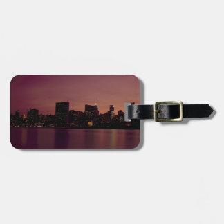 Étiquette À Bagage Ville urbaine de Manhattan de crépuscule d'horizon